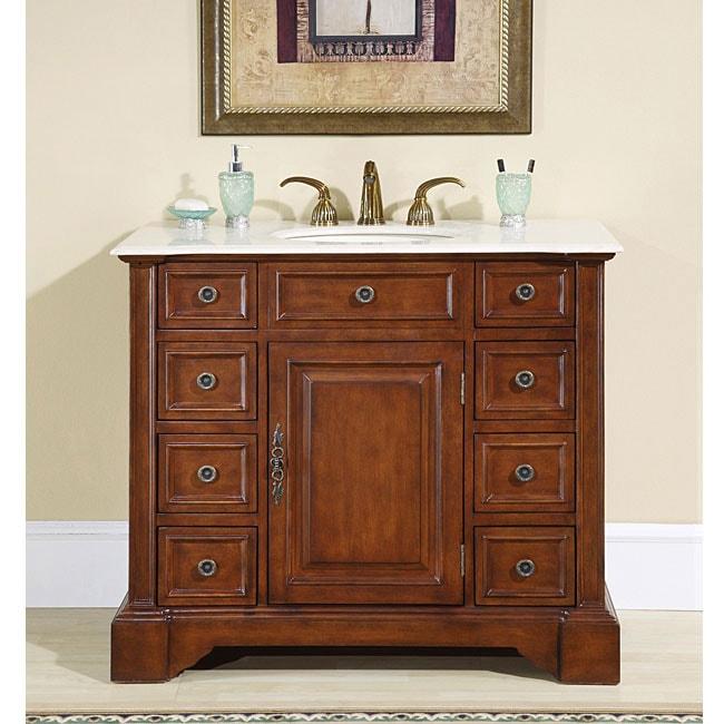 Silkroad Exclusive  Greenfield Single-sink Bathroom Vanity