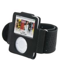 Eforcity Black Velvet Armband for iPod Nano Gen3 - Thumbnail 2