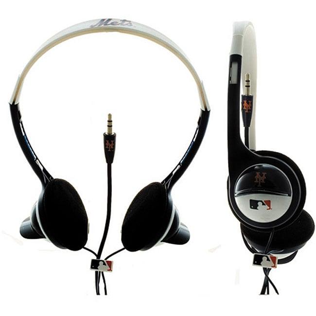 Nemo Digital MLF10117NYM MLB New York Mets Batting Helmet Overhead Headphones