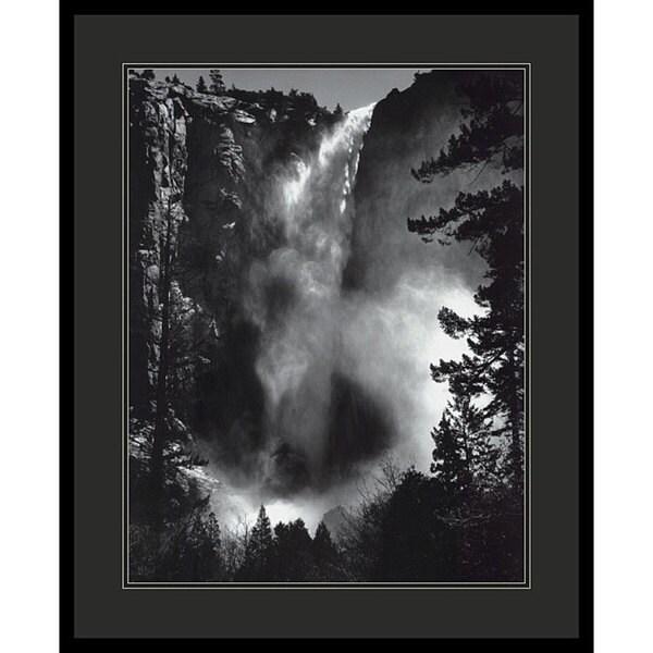 Ansel Adams 'Bridal Veil Falls' Framed Art Print