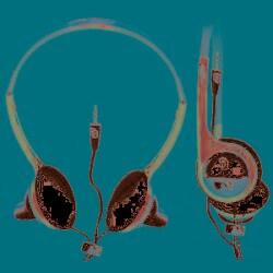 Nemo Digital MLF 10117SD MLB San Diego Padres Batting Helmet Overhead Headphones - Thumbnail 1