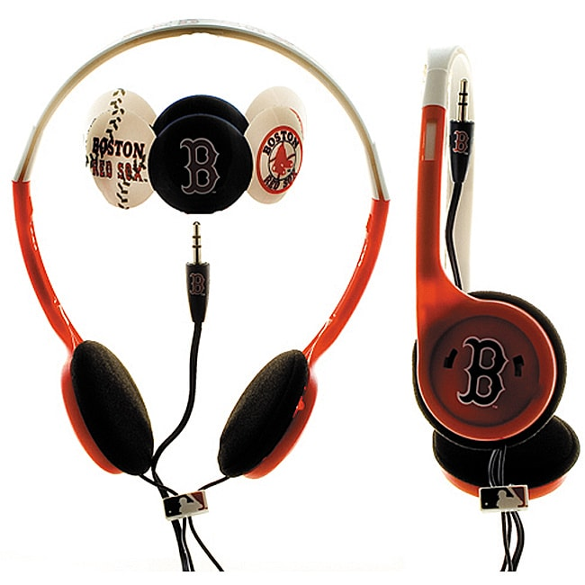 Nemo Digital MLF10118BS MLB Interchangeable Boston Red Sox Headphones