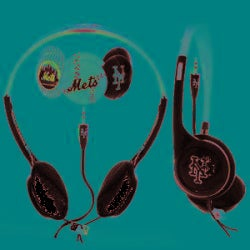 Nemo Digital MLF10118NYM MLB Interchangeable New York Mets Headphones - Thumbnail 1