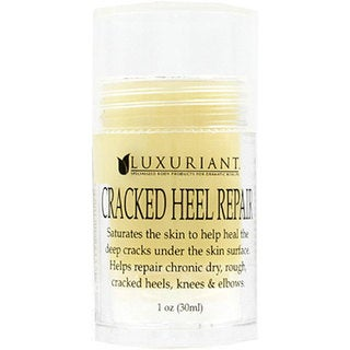 Luxuriant 1 oz Cracked Heel Repair (pack of 3) with Bonus Foot File and Treatment Socks