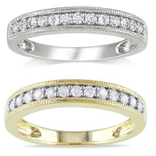 Miadora 10k Gold 1/4ct TDW Diamond Wedding Band