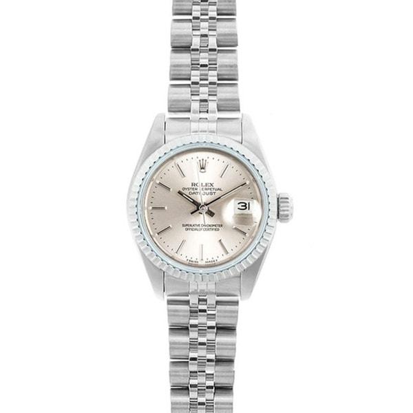 Pre,owned Rolex Datejust Women\u0027s Stainless Steel Jubilee Band Watch