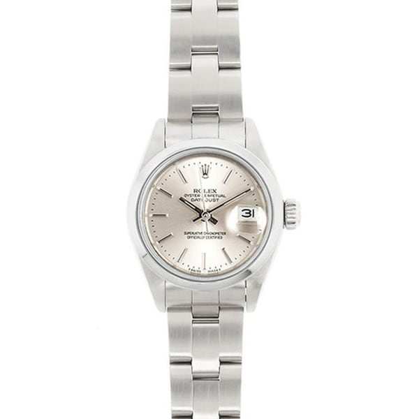 Shop Pre-Owned Rolex Women's Datejust Stainless Steel Oyster