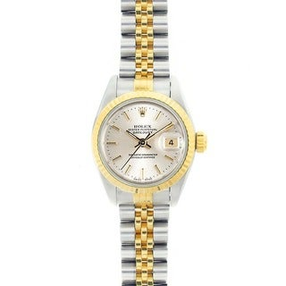 Pre-owned Rolex Datejust Women's Two-tone Silver Dial Watch