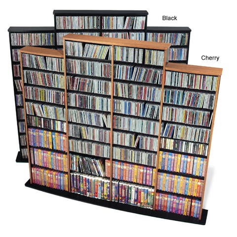 "Quad Media Storage - 73.5"" W x 63.75"" H x 9.5"" D"