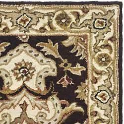 Safavieh Handmade Heritage Timeless Traditional Dark Mocha/ Ivory Wool Rug (2' x 3') - Thumbnail 1