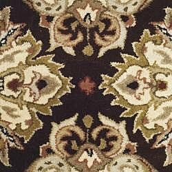 Safavieh Handmade Heritage Timeless Traditional Dark Mocha/ Ivory Wool Rug (2' x 3') - Thumbnail 2