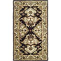 Safavieh Handmade Heritage Timeless Traditional Dark Mocha/ Ivory Wool Rug (2' x 3')