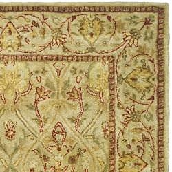Safavieh Handmade Mahal Light Brown/ Beige New Zealand Wool Rug (4' x 6')