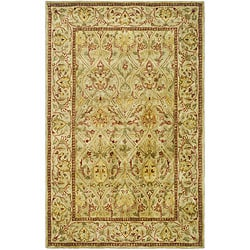Safavieh Handmade Mahal Light Brown/ Beige New Zealand Wool Rug (4' x 6')