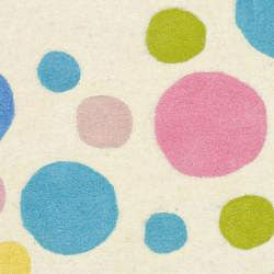 Safavieh Contemporary Handmade Soho Bubblegum Ivory/Multi N. Z. Wool Rug (2' x 3') - Thumbnail 2