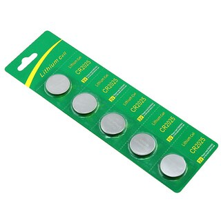 INSTEN Lithium Coin Battery Pack for CR2025/ DL2025 (Pack of 5)