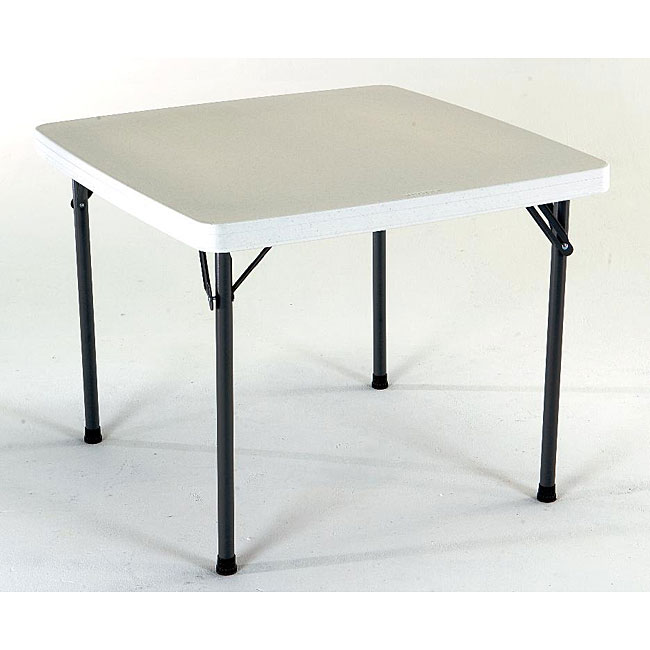 Lifetime 37 inch square granite folding card table free for 52 folding table