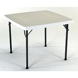 Lifetime 37-inch Square Granite Folding Card Table