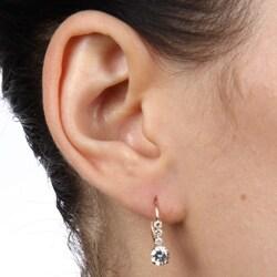 Icz Stonez 10k Yellow Gold Cubic Zirconia Leverback Earrings