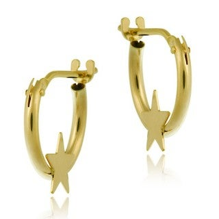 Link to Mondevio 10k Gold Mini Star Hoop Earrings Similar Items in Children's Jewelry