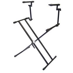 Pyle 2-tier Double X DJ Coffin Keyboard Stand - Thumbnail 2