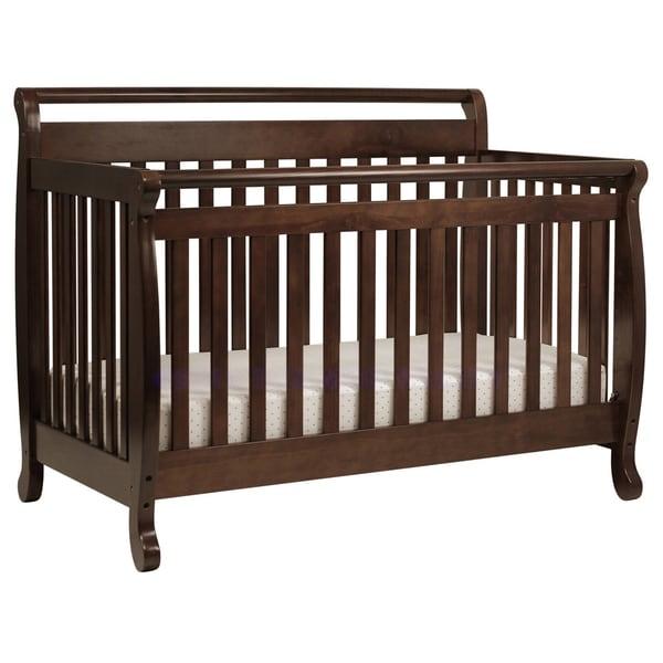DaVinci Emily 4-in-1 Convertible Crib with Toddler Rail in Espresso