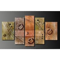 Hand-painted Oil on Canvas Wall Decoration 5-piece Art Set - Multi
