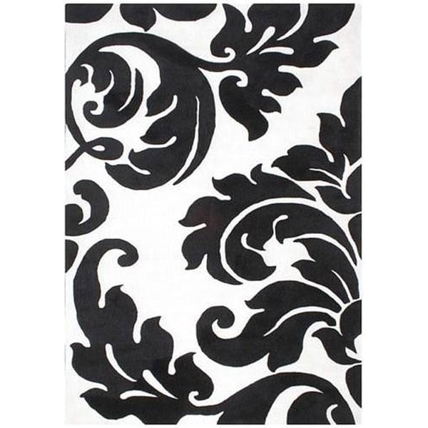 Alliyah Handmade Off-White New Zealand Blend Wool Rug Wool Rug (5' x 8') - 5' x 8'