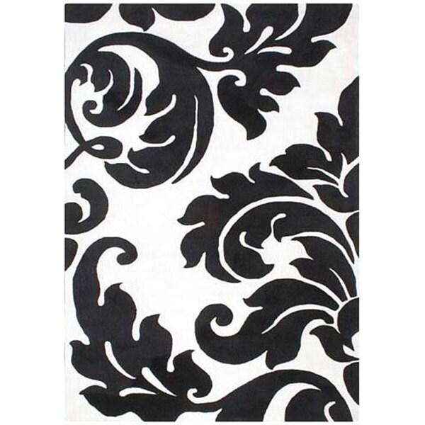 Alliyah Handmade Off-White New Zealand Blend Wool Rug Wool Rug (5' x 8')