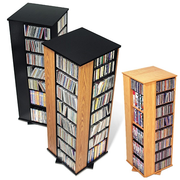 dvd storage tower spinning media storage tower overstock shopping great 30096