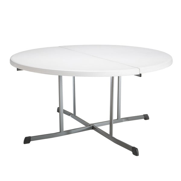 Shop Lifetime 5 Foot Round Fold In Half Tables Pack Of 8