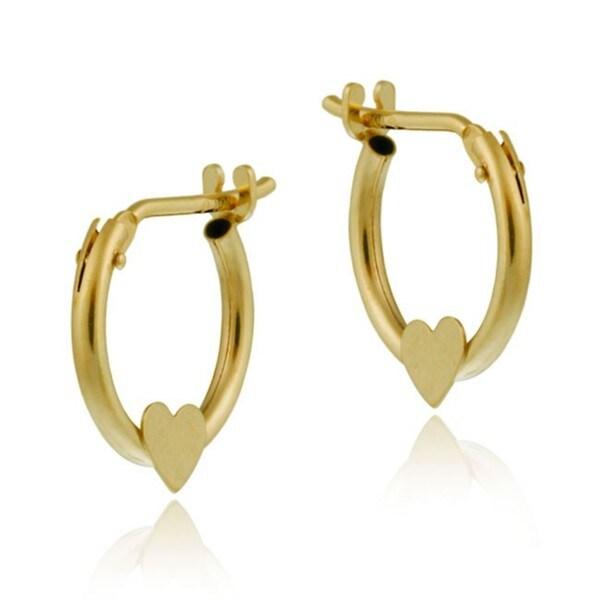 Mondevio 10k gold mini heart hoop earrings free shipping on orders