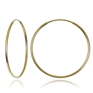 Mondevio 10k Gold 20mm Endless Hoop Earrings