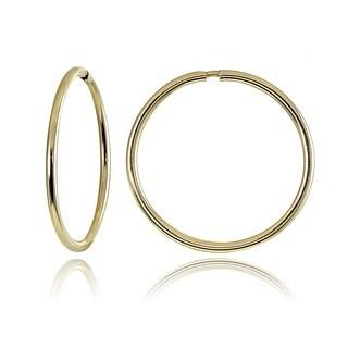 Mondevio 10k Gold 16mm Endless Hoop Earrings
