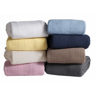 Grand Hotel Woven Cotton Throw Blanket (More options available)