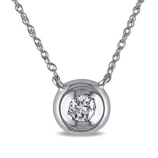 Miadora 10k White Gold Diamond Solitaire Necklace