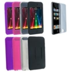 Eforcity 4 Silicone Skin Cases Screen Protector for iPod Touch Gen2 - Thumbnail 1