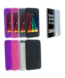 Eforcity 4 Silicone Skin Cases Screen Protector for iPod Touch Gen2 - Thumbnail 2
