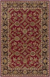 Hand-tufted Mandara a Red New Zealand Wool Rug (7'9 x 10'6)