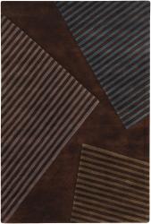 Artist's Loom Hand-tufted Contemporary Geometric Wool Rug (5'x7'6) - Thumbnail 2