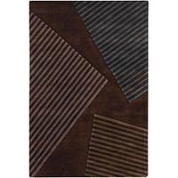 Artist's Loom Hand-tufted Contemporary Geometric Wool Rug (5'x7'6) - 5' x 7'6