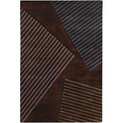 Artist's Loom Hand-tufted Contemporary Geometric Wool Rug (7'9x10'6) - 7'9 x 10'6 - Thumbnail 0