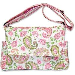 Trend Lab Paisley Messenger-style Diaper Bag - Thumbnail 0