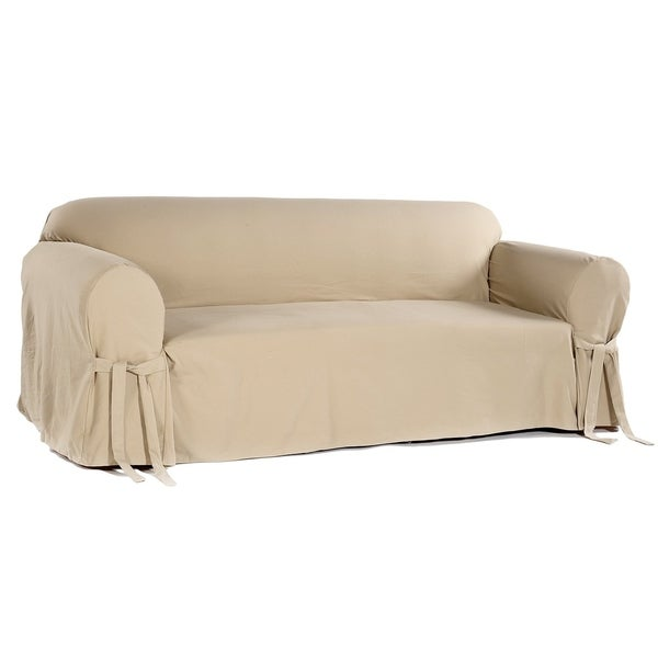 Shop Classic Slipcovers Brushed Twill Sofa Slipcover - Free Shipping ...