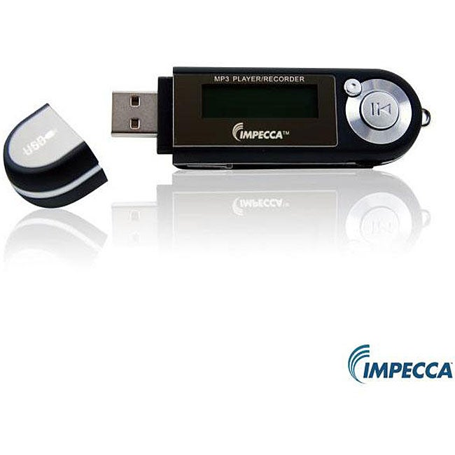 Impecca MP-1202 Two-gigabyte Black MP3 Player with Blue LCD Screen