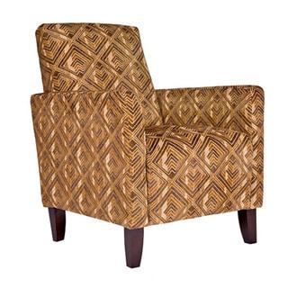 Handy Living Sutton Pecan Brown Arm Chair