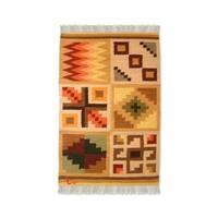 Handmade Peruvian 'Calendar' Wool Rug (Peru) - 2' x 3'