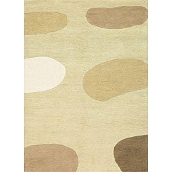 """nuLOOM Hand-knotted Brink & Campman Himali Ivory Wool Rug - 5'7"""" x 7'10"""" - Thumbnail 0"""