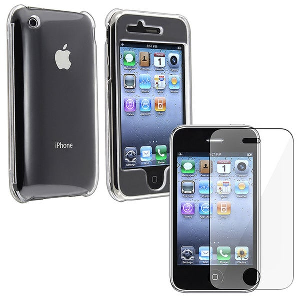 INSTEN Clear Snap-on Phone Case Cover/ Screen Guard for Apple iPhone 3G/ 3GS