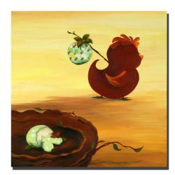 Sylvia Masek 'Leaving the Nest' Ready to Hang Canvas Art - Thumbnail 1